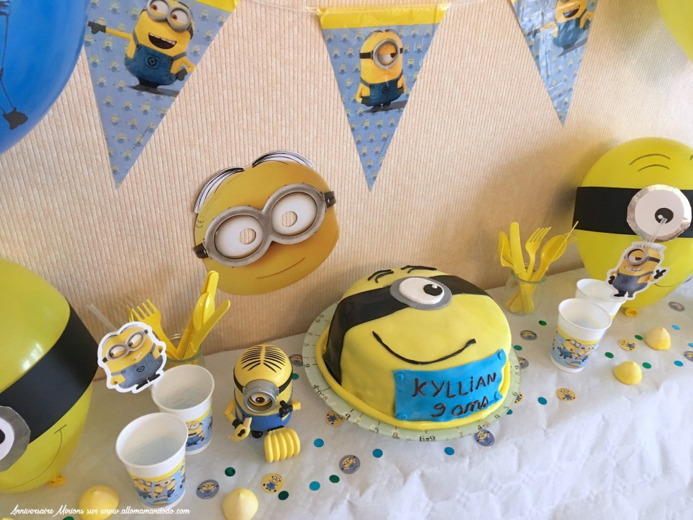 decoration anniversaire minions
