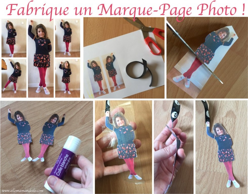 Marque-page photo enfant