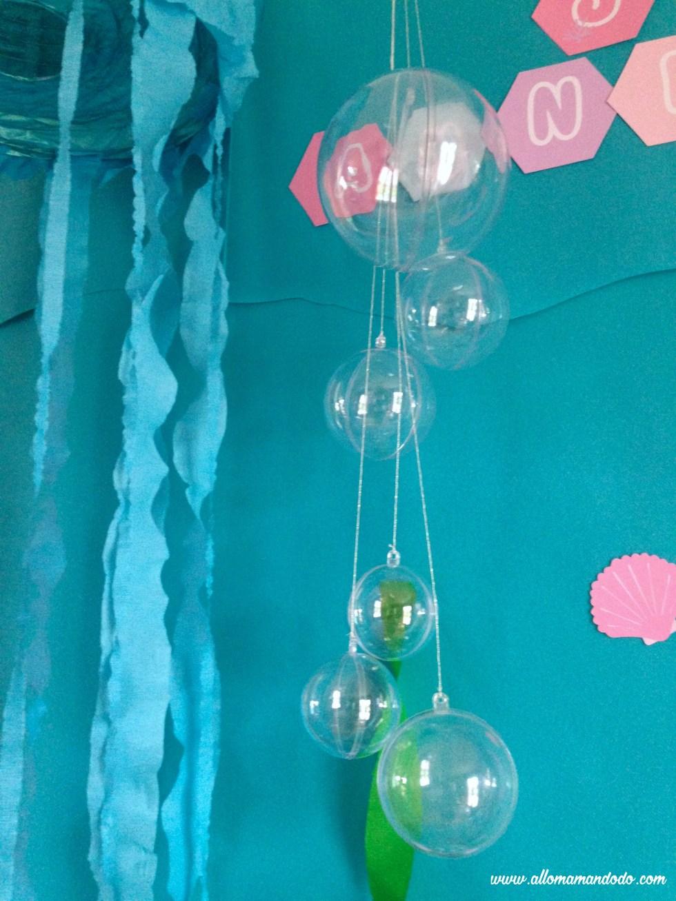 deco bulles eau sirene