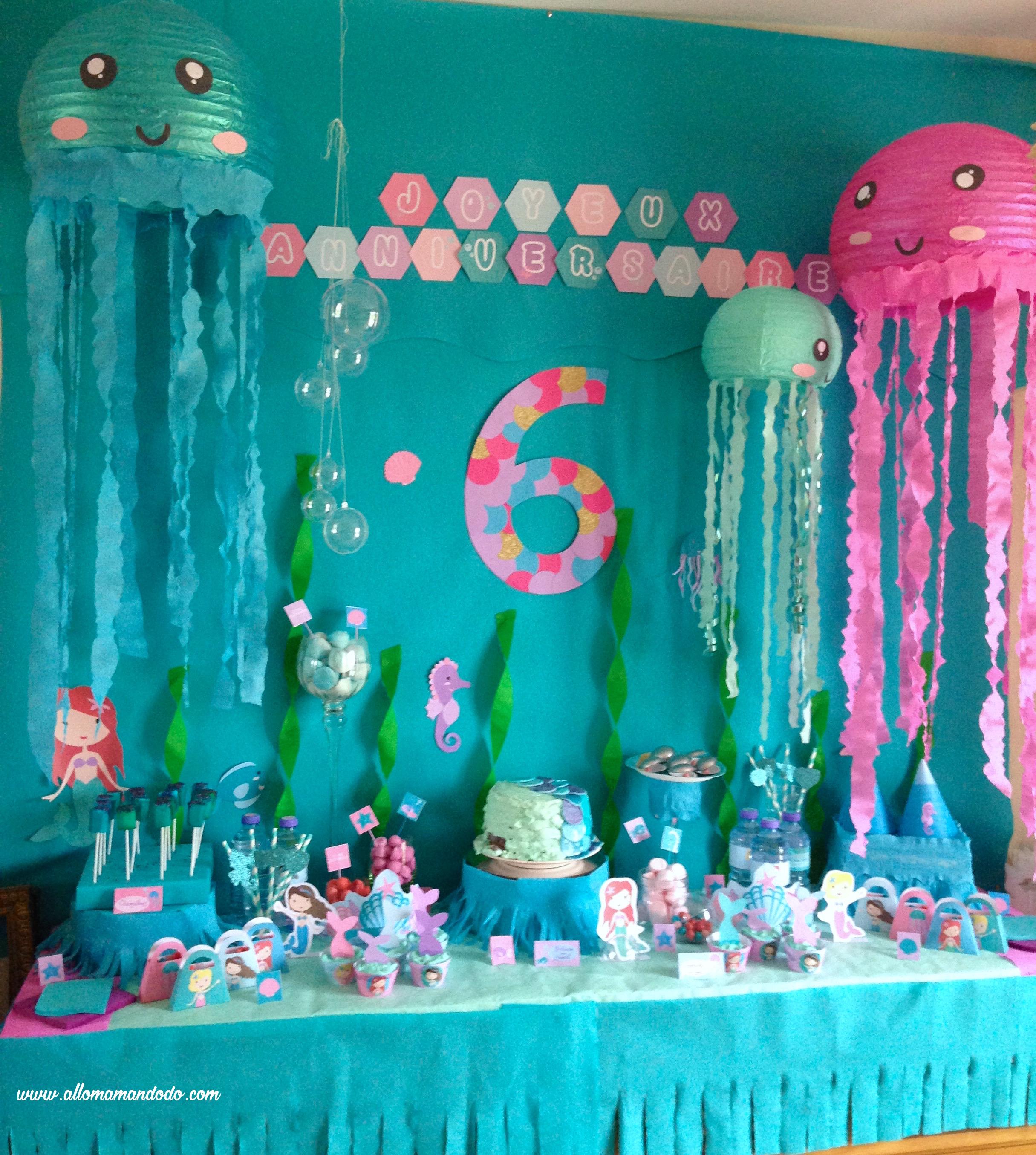 Un Anniversaire Sirène Les Photos De La Sweet Table Allo