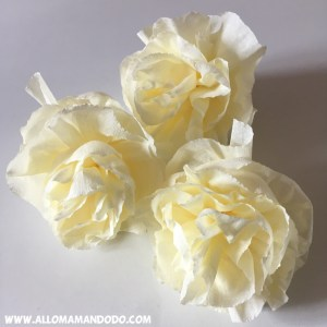 flower crepon paper