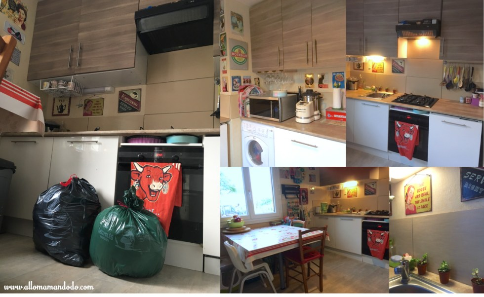 rangement cuisine sacs poubelles