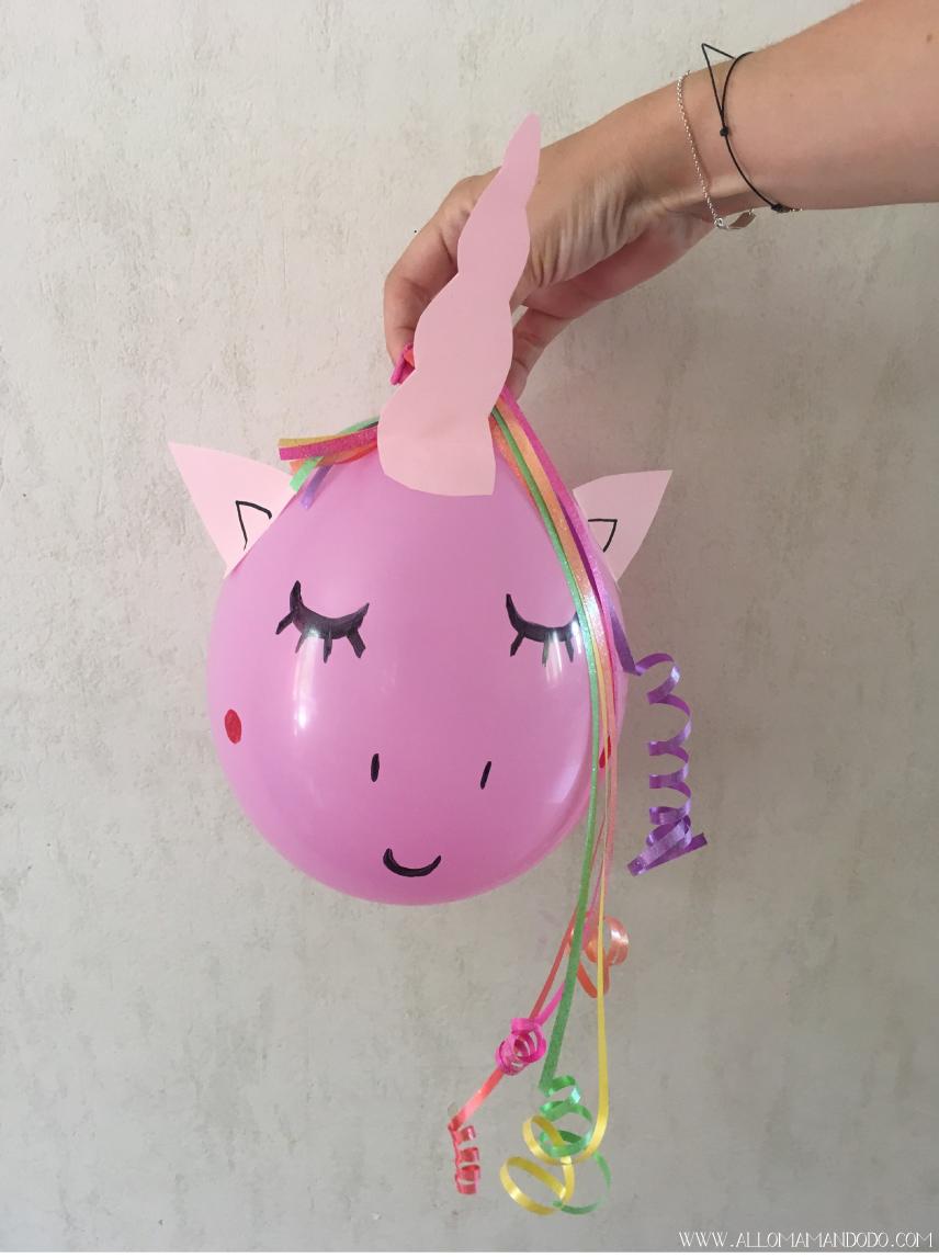 Einhorn Luftballon selber basteln DIY