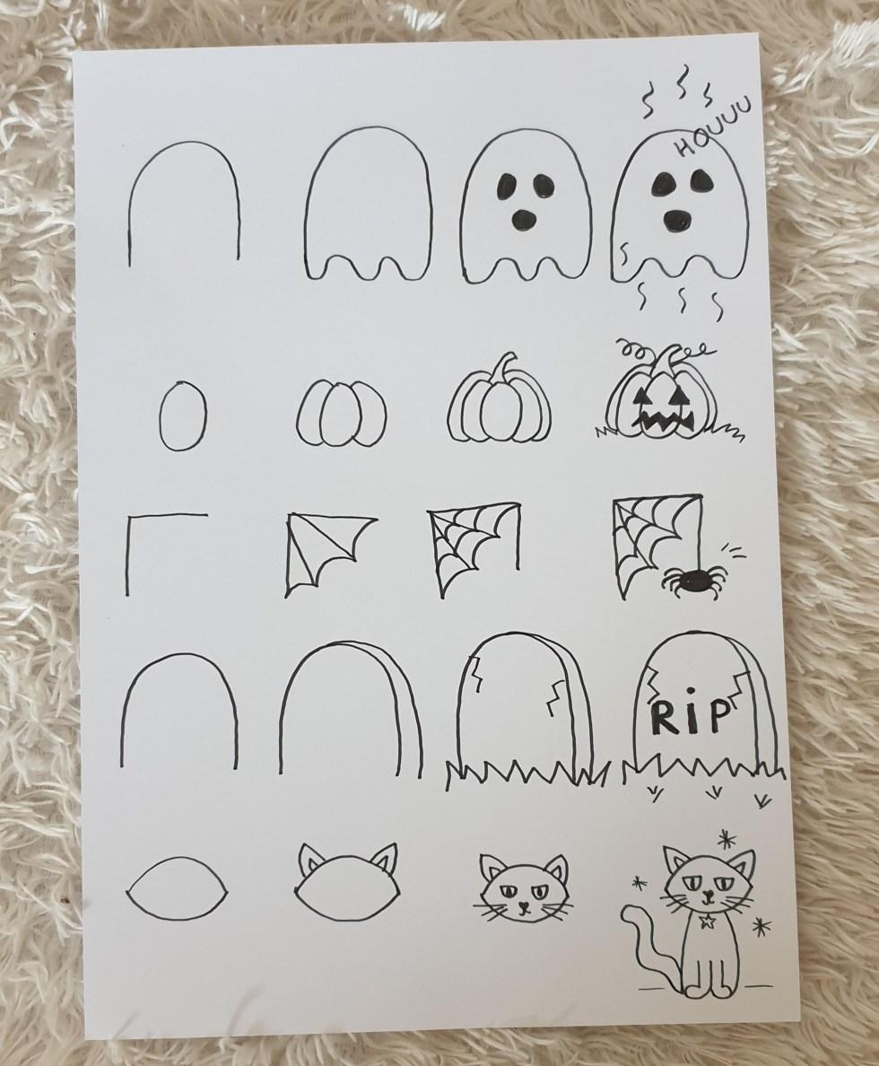 Dessins Faciles D Halloween Les Pas A Pas Pour Enfant Allo Maman Dodo