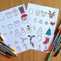 Apprendre à dessiner Noël (fiches étapes dessin à imprimer!)
