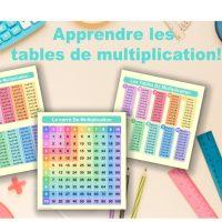 Apprendre les tables de multiplication! (Printables)