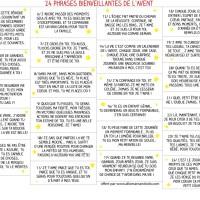 24 phrases bienveillantes pour donner confiance aux enfants (Calendrier de l'avent à imprimer #gratuit)