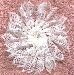 beautiful and delicate, just like a real snowflake (via)