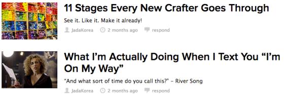 My BuzzFeed Page