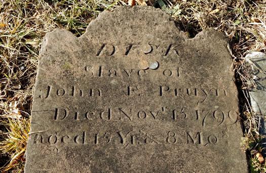 Albany Rural marker Dick Slave of John Pruyn