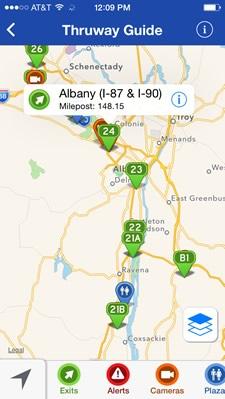 Map Of Nys Thruway Exits : thruway, exits, Thruway, Guide, Albany