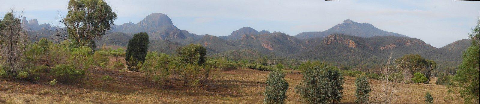Warrumbungles from Belougery Flats