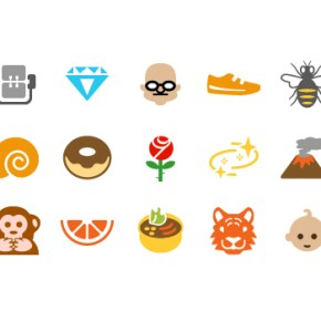 emoji icons: a pixel story