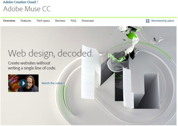 Adobe Muse graphic