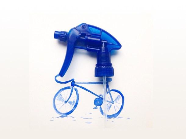 Spray cyclist.  Image: @mr.kriss on Instagram