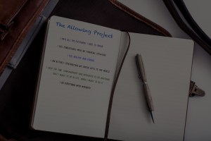 The Allowing Project journal