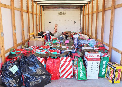 Adopt A Family Center for Family Services Full Truck Load Donations