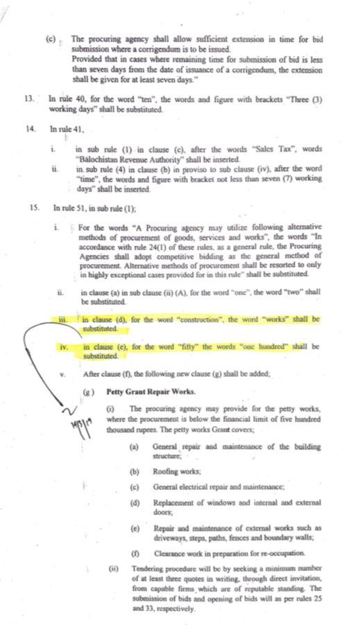 Notification   Amendments in the Balochistan Public Procurement Rules 2014   Government of Balochistan Finance Department (Procurement Section)   March 20, 2019 - allpaknotifications.com