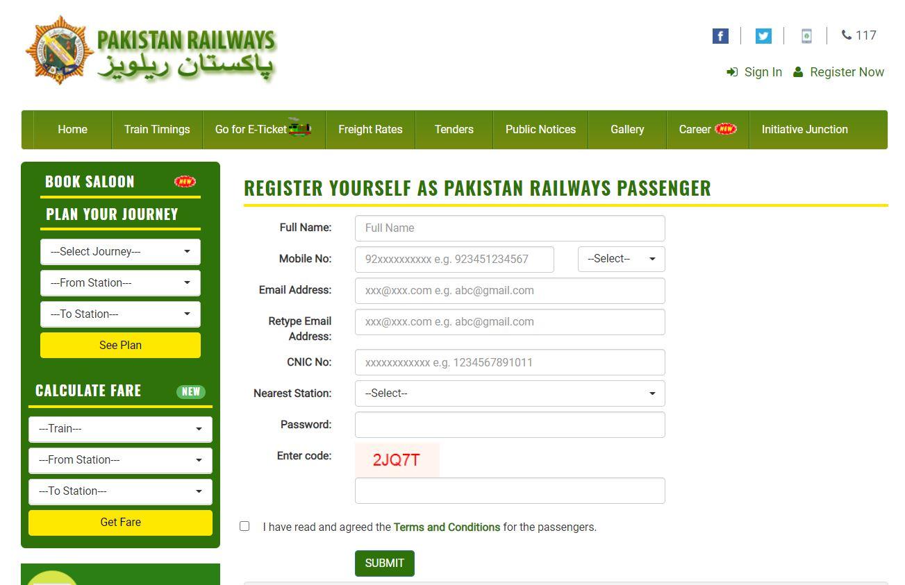 (Step by Step) Online Ticket Booking Procedure | Pakistan Railway - allpaknotifications.com