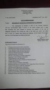 Office Memorandum | Revision of the Rate of Integrated Allowance for Qasids, Naib Qasids and Daftaries | Government of Pakistan Finance Division (Regulations Wing) | July 08, 2021 - allpaknotifications.com