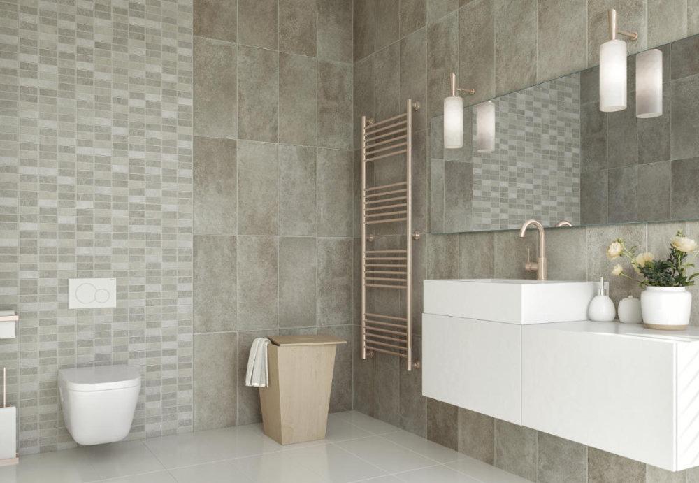 large tile effect pvc bathroom panels