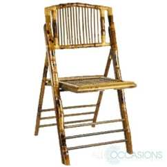 Bamboo Folding Chair Gothic Chairs All Occasions Party Rental Sku 1008