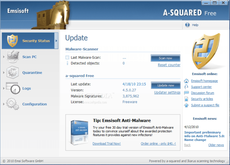 A-Squared Antivirus free download