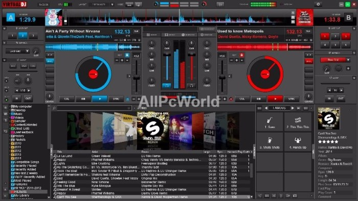 Atomix Virtual DJ 8.2 User Interface