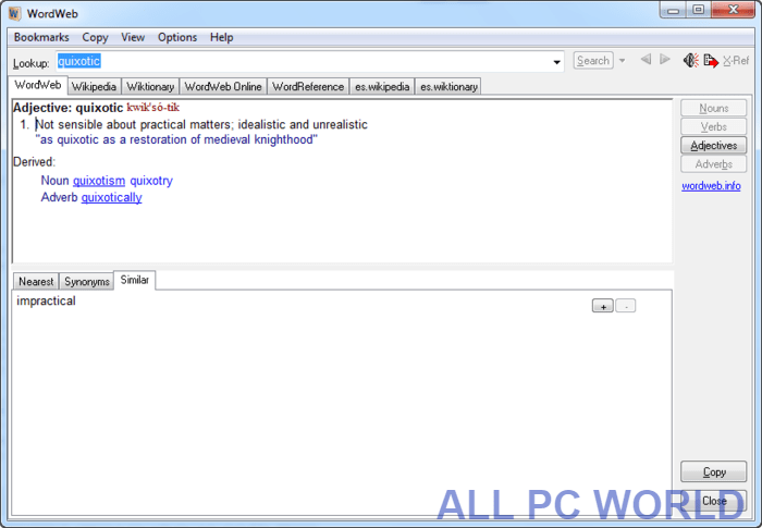 WordWeb Dictionary Latest Version Free Download