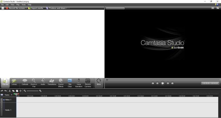 Camtasia Studio 7 User interface free download