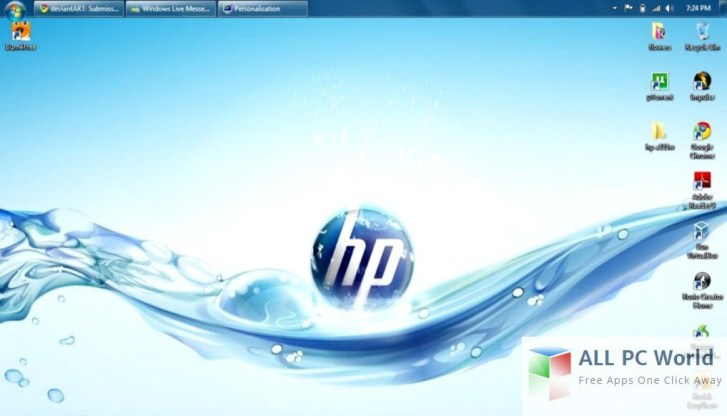 HP Compaq Windows 7 Ultimate Ultimate user interface