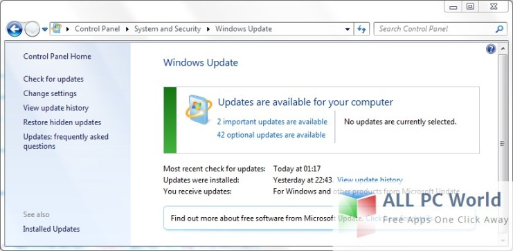 Service pack for windows 7 64 bit.