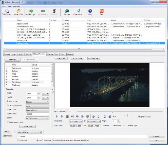 XMedia Recode 3.3.4.5 Review and Features