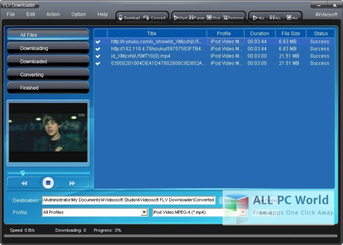 4Videosoft FLV Downloader Review