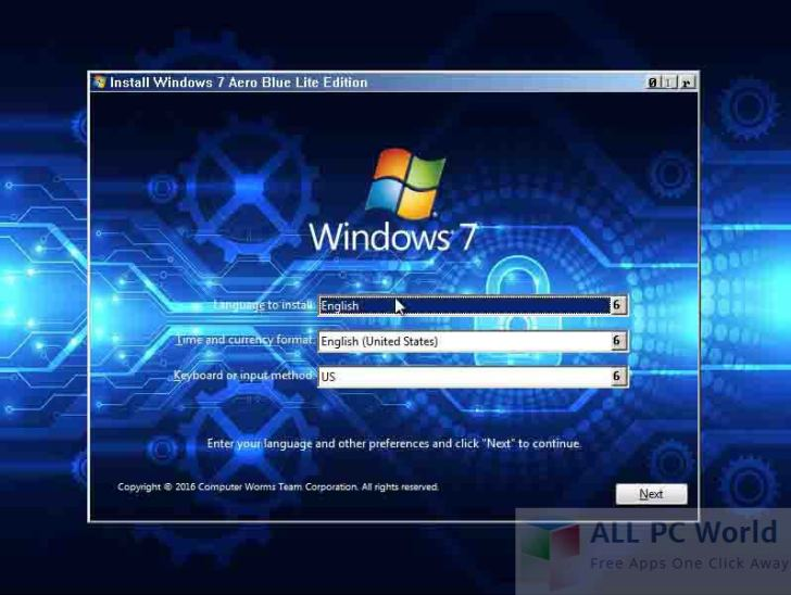 Windows 7 Aero Blue Lite Edition 2016 Review