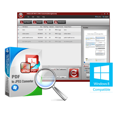 4Videosoft PDF to JPEG Converter 3.1 Free Download