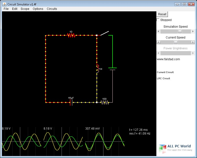 Circuit Simulator 1.6i User Interface
