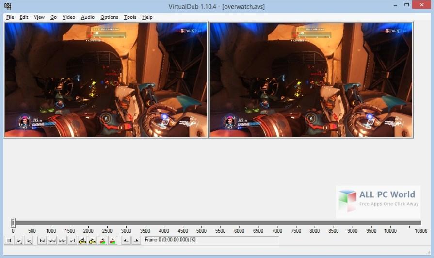 Download Portable VirtualDub 1.10.4 Build 35491