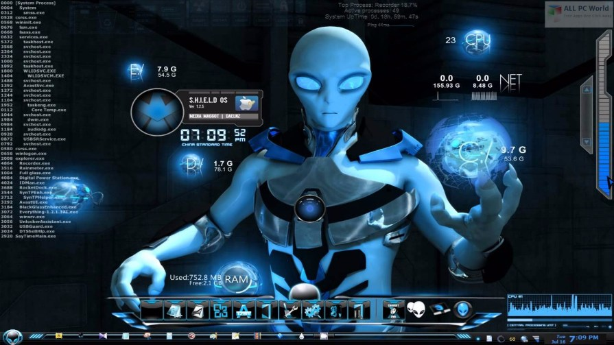 Windows 7 Alienware Blue Edition DVD ISO Review