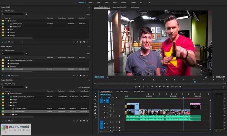 Adobe Premiere Pro CC 2018 12.0 Free Download