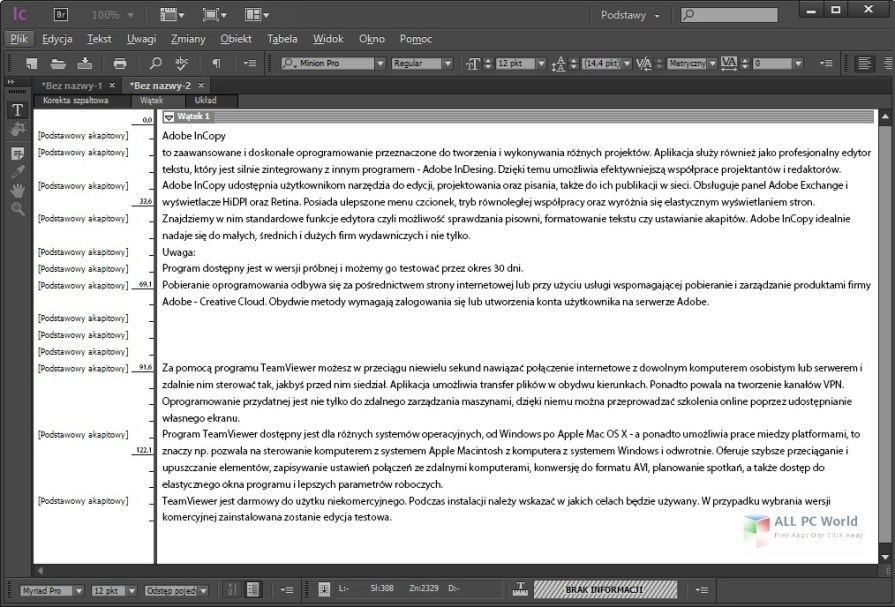 Adobe InCopy CC 2018 Review