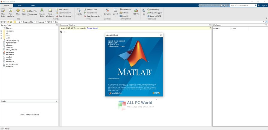 MathWorks MATLAB R2019b