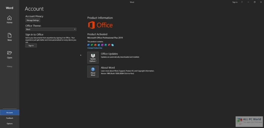 Microsoft Office 2019 Pro Plus VL v1911 Free Download