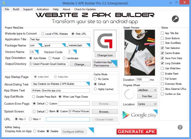 Website 2 APK Builder Pro 4.0 Full Version Download
