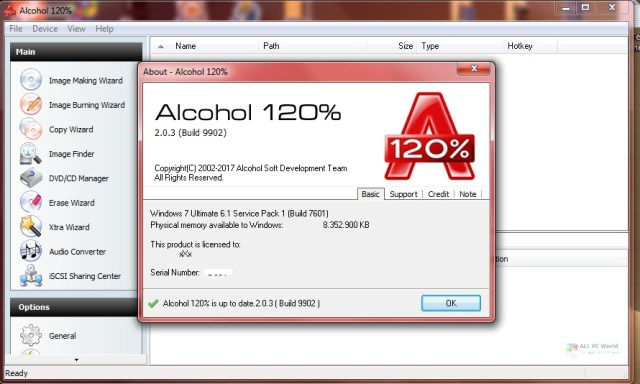 Alcohol 120% 2.1 Free Download