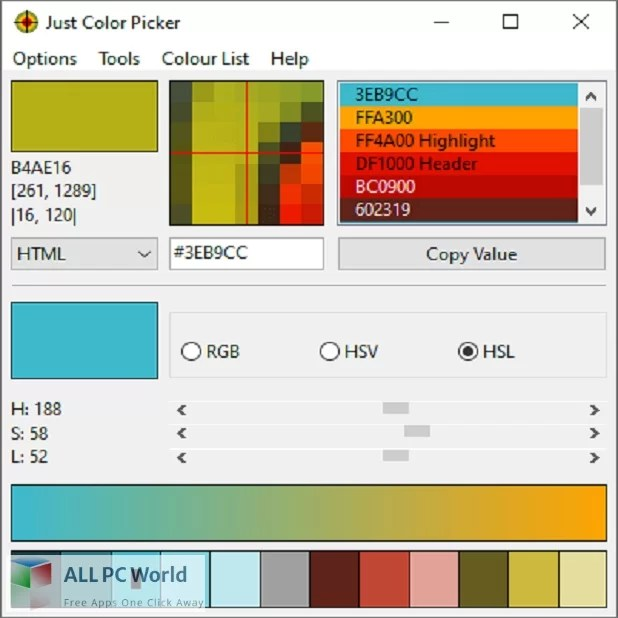 Just Color Picker Free Download
