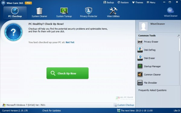 Wise Care 365 Pro 6 Free Download