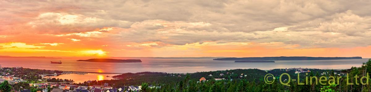 CBS Sunset over the three islands