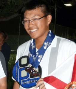 Junior pickleball winner