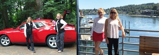 Rental car laughs and lunch on the water in Seattle.